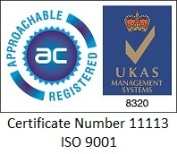 Approachable Registered Certificate Number 11113 ISO 9001